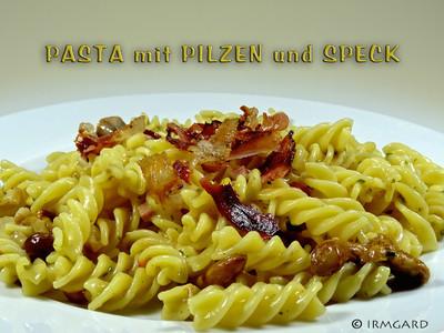 pasta mit pilzen und speck rezept rezepte auf. Black Bedroom Furniture Sets. Home Design Ideas