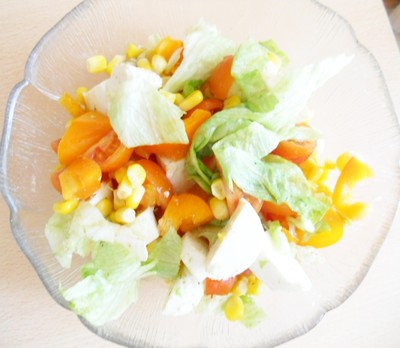 gemischter salat mit mozzarella rezept rezepte auf. Black Bedroom Furniture Sets. Home Design Ideas