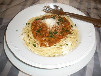 Linsen Bolognese Rezept