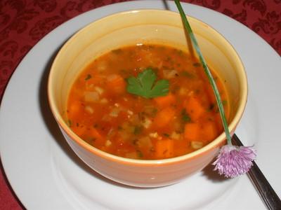 Mexikanische Tomaten - Bohnensuppe  Rezept