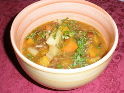 Kürbis - Linseneintopf aus dem Crock Pot Rezept
