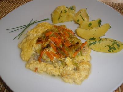 Fisch - Gemüse - Pfanne aus dem Ofen Rezept