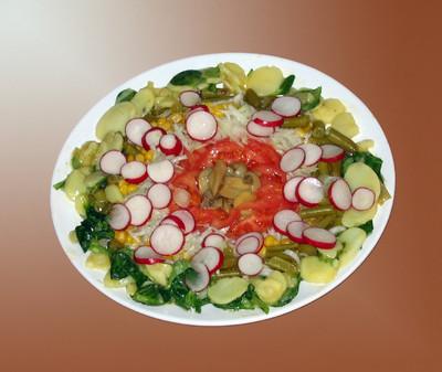 Salatplatte mit Tomaten Rezept
