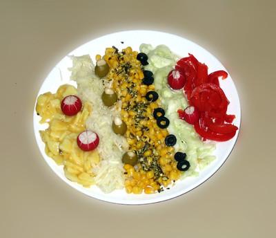 Gemüsesalatplatte Rezept