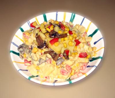 Kartoffelsalat mit frischen Champignons Rezept