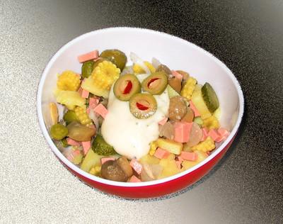Leberkäse-Salat Rezept