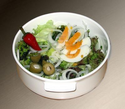 Blattsalat mit Ei Rezept
