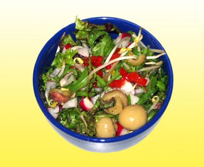 Blattsalat Mit Sojasprossen Rezept Rezepte Auf Kocheckeat