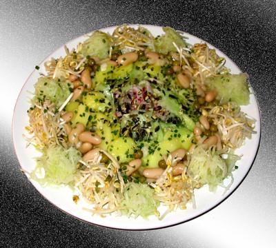 Grüner Salatteller Rezept
