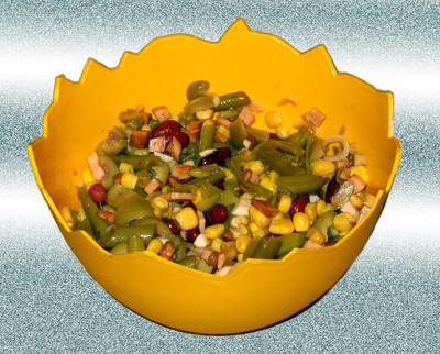 Fisolensalat mit Roten Bohnen Rezept