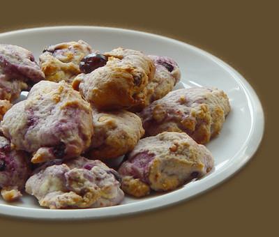Cookies mit Blaubeeren & Cranberries Rezept