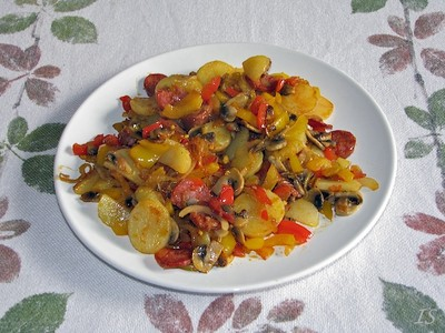 Kartoffelpfanne mit Chorizo Rezept