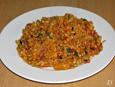 Zucchini-Kürbis-Getreide Rezept