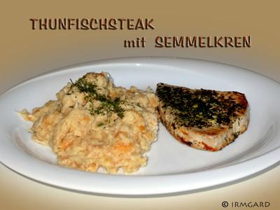 Thunfischsteak mit Semmelkren Rezept