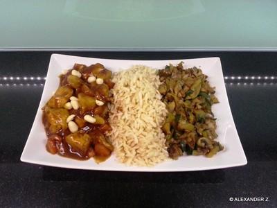 Asia Putenfleisch mit Rum - Rosinen Rezept