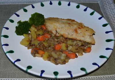 Fischfilet auf Linsen Rezept