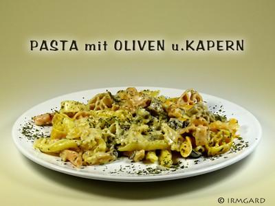 Pasta mit Oliven und Kapern Rezept