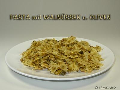 Pasta mit Walnüssen und Oliven Rezept