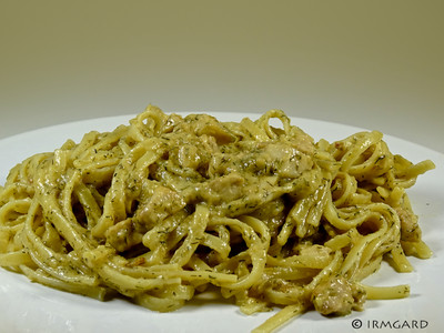 Pasta mit Lachs in Dill-Senf-Sauce Rezept