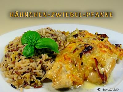 Hähnchen-Zwiebel-Pfanne Rezept