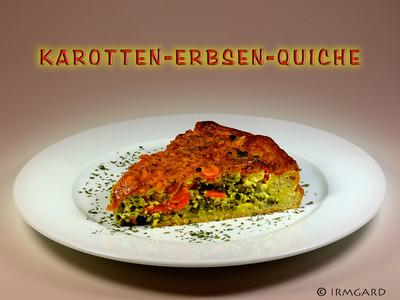 Karotten-Erbsen-Quiche Rezept