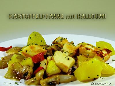 Kartoffelpfanne mit Halloumi Rezept