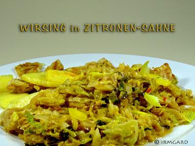 Wirsing in Zitronen-Sahne Rezept