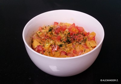 Mango - Tomaten - Chili - Dip Rezept