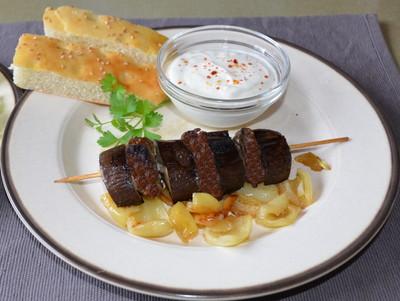 Rind-Melanzani-Kebabs Rezept