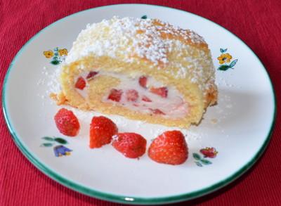 Erdbeer-Roulade Rezept