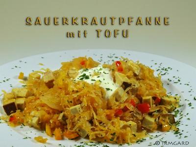 Sauerkrautpfanne mit Tofu Rezept