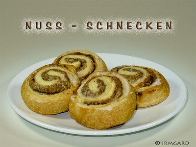 Nuss-Schnecken Rezept
