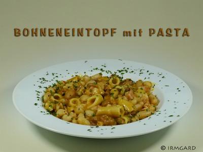 Bohneneintopf mit Pasta Rezept
