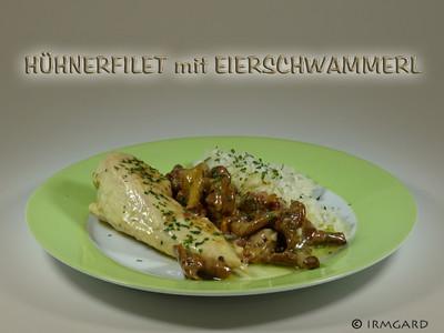Hühnerfilet mit Eierschwammerl Rezept