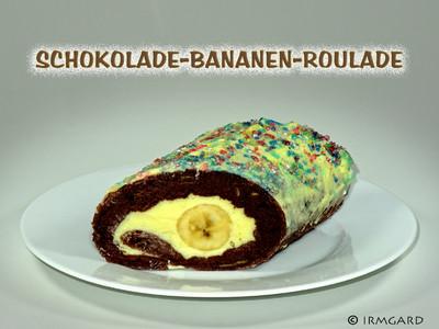 Schokolade-Bananen-Roulade Rezept