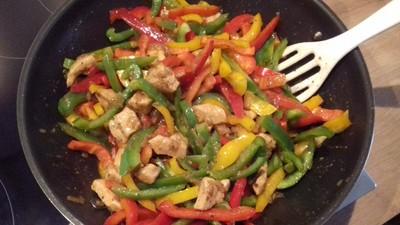 Huhn-Paprika Wok Rezept
