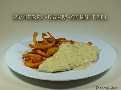 Zwiebel-Rahm-Schnitzel Rezept