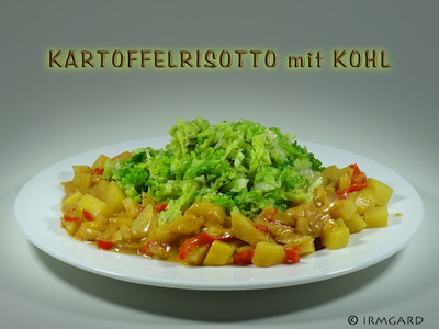 Kartoffelrisotto mit Kohl Rezept