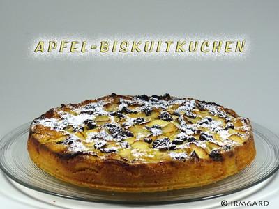 Apfel-Biskuittorte Rezept