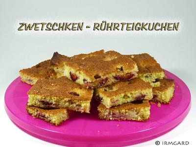 Zwetschken-Rührteigkuchen Rezept