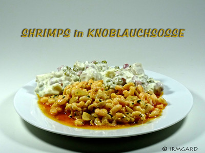 Shrimps in Knoblausosse Rezept