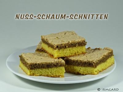 Nuss-Schaum-Schnitten Rezept