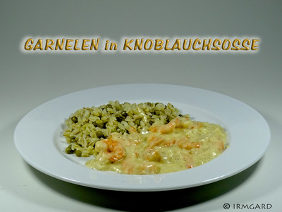 Garnelen in Knoblauchsosse Rezept