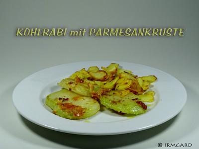 Kohlrabi mit Parmesankruste Rezept