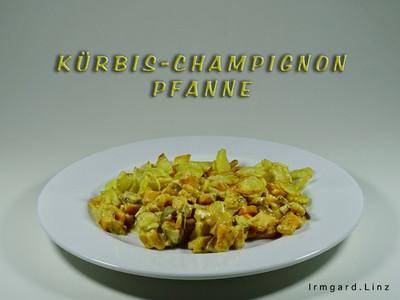 Kürbis-Champignon-Pfanne Rezept