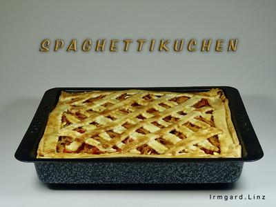 Spaghettikuchen unter Teiggitter Rezept