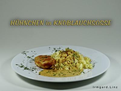 Hühnchen in Knoblauchsosse Rezept