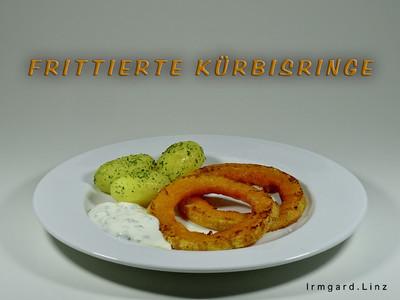 Frittierte Kürbisringe mit Knoblauchdip Rezept