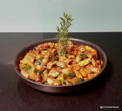 Puten Zucchini Pfanne mit Kartoffeln Rezept