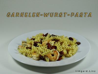 Garnelen-Wurst-Pasta Rezept